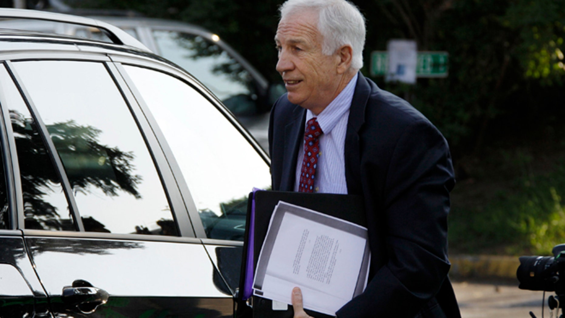 June 20: Former Penn State University assistant football coach Jerry Sandusky arrives at the Centre County Courthouse in Bellefonte, Pa.