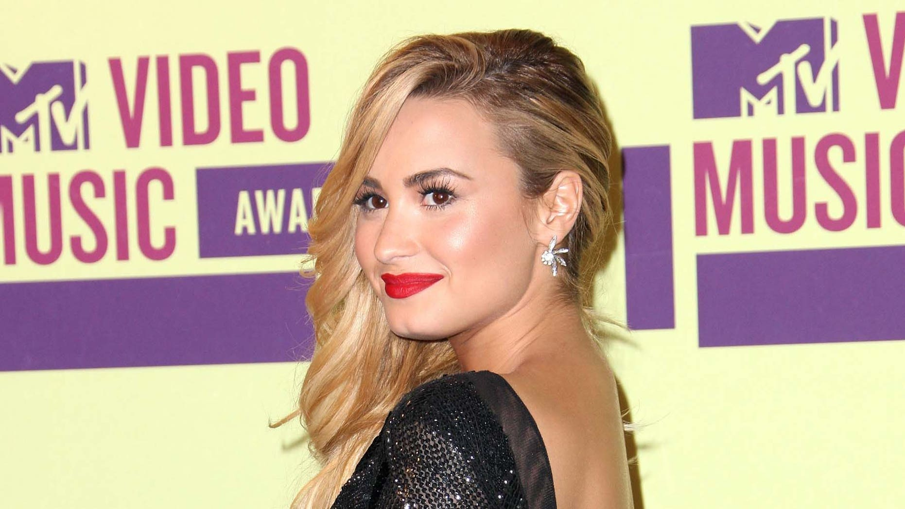 Sept. 06, 2012: Singer Demi Lovato poses in the press room during the 2012 MTV Video Music Awards at Staples Center in Los Angeles, California.