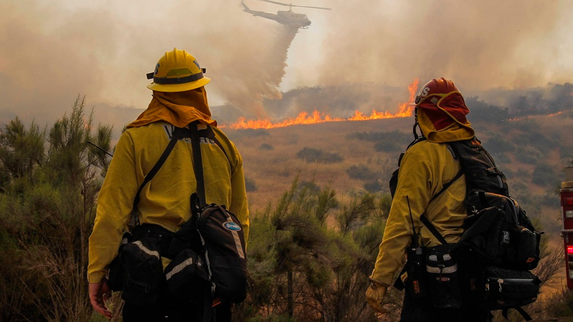 The fire broke out Saturday south of Jamul and burned more than 2 square miles. The wildfire forced hundreds of people to evacuate the Pio Pico RV Resort and Campground and nearby Dulzura.
