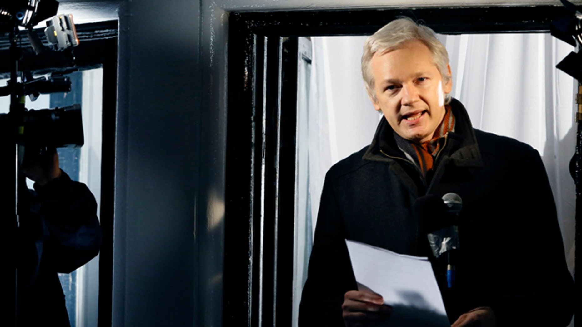 Julian Assange, founder of WikiLeaks, in a Dec. 20, 2012, file photo.