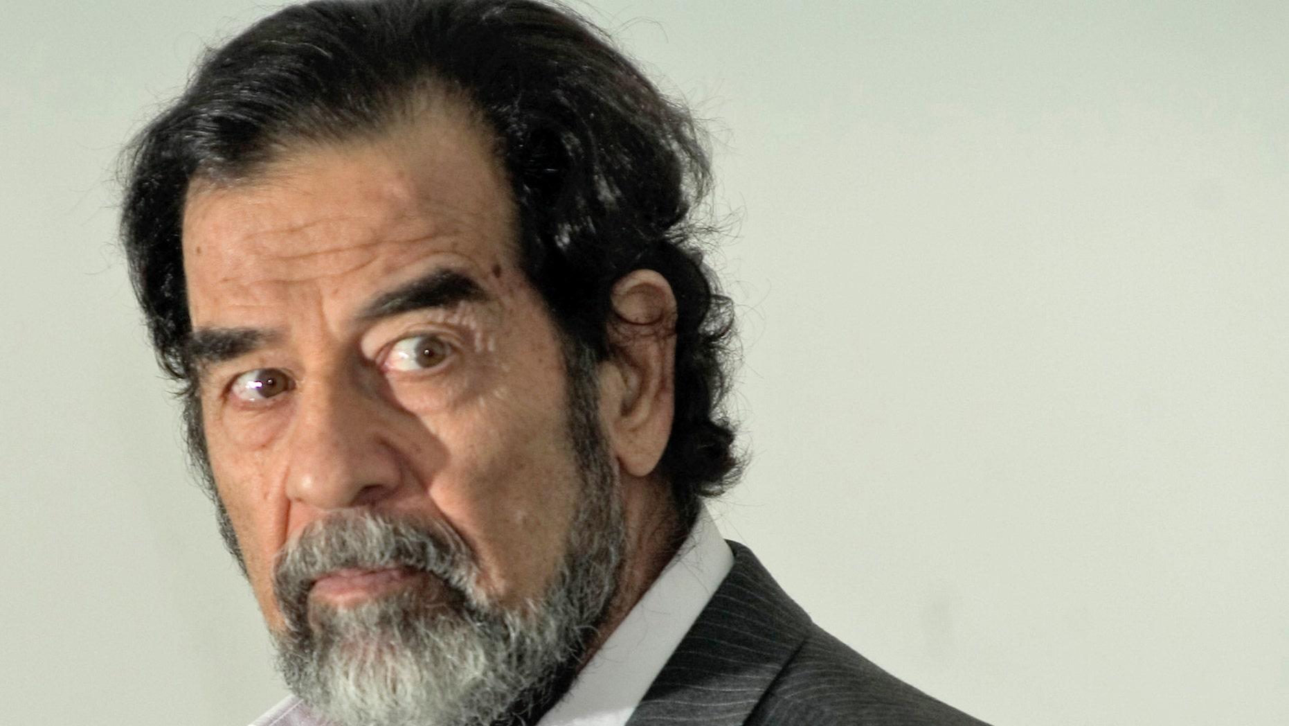 Saddam Hussein in 2005. (AP Photo/Iraqi Special Tribunial, Pool)