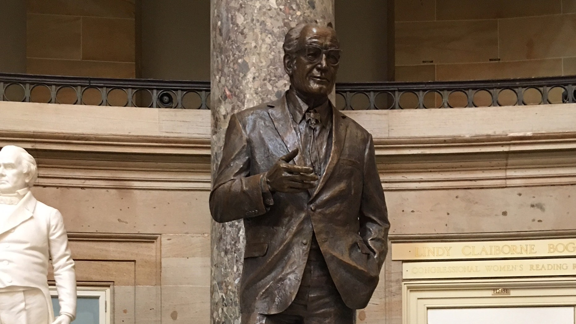 The statue of Sen. Barry Goldwater, R-Ariz., in the Capitol's Statuary Hall. Goldwater was Sen. JOhn McCain's Senate predecessor.