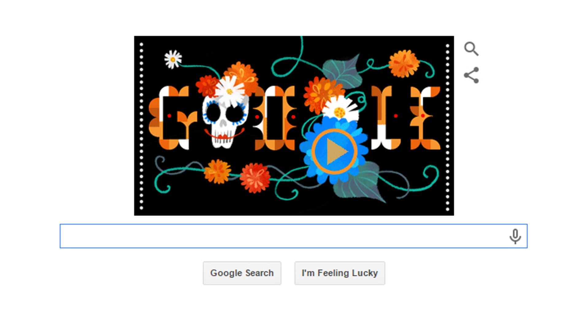 google celebrates mexico s dia de los muertos with doodle fox news
