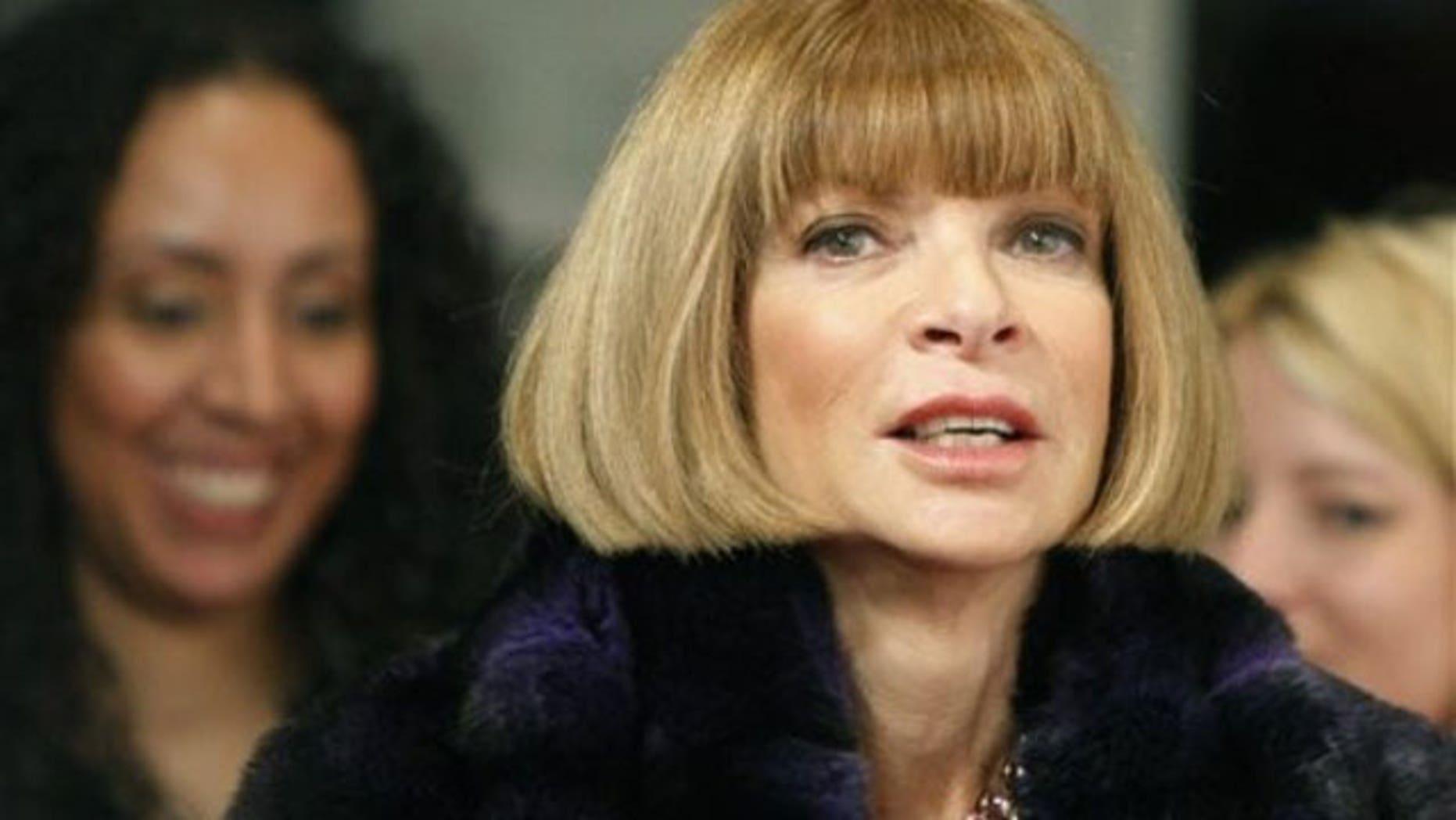 Anna Wintour, Vogue magazine's editor in chief. (AP)