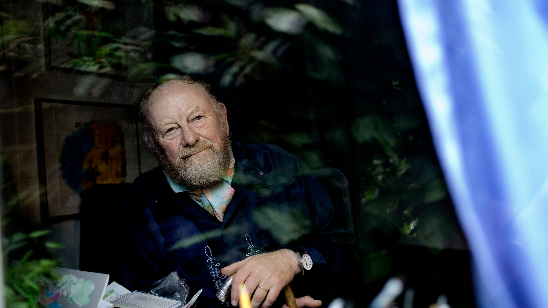 June 6, 2010: Danish cartoonist Kurt Westergaard is seen at his home near Aarhus, Denmark. A Danish court on Feb. 3, 2011, declared a Somali man guilty of terrorism for using an ax to break into the home of a Danish cartoonist who had caricatured the Prophet Muhammad.