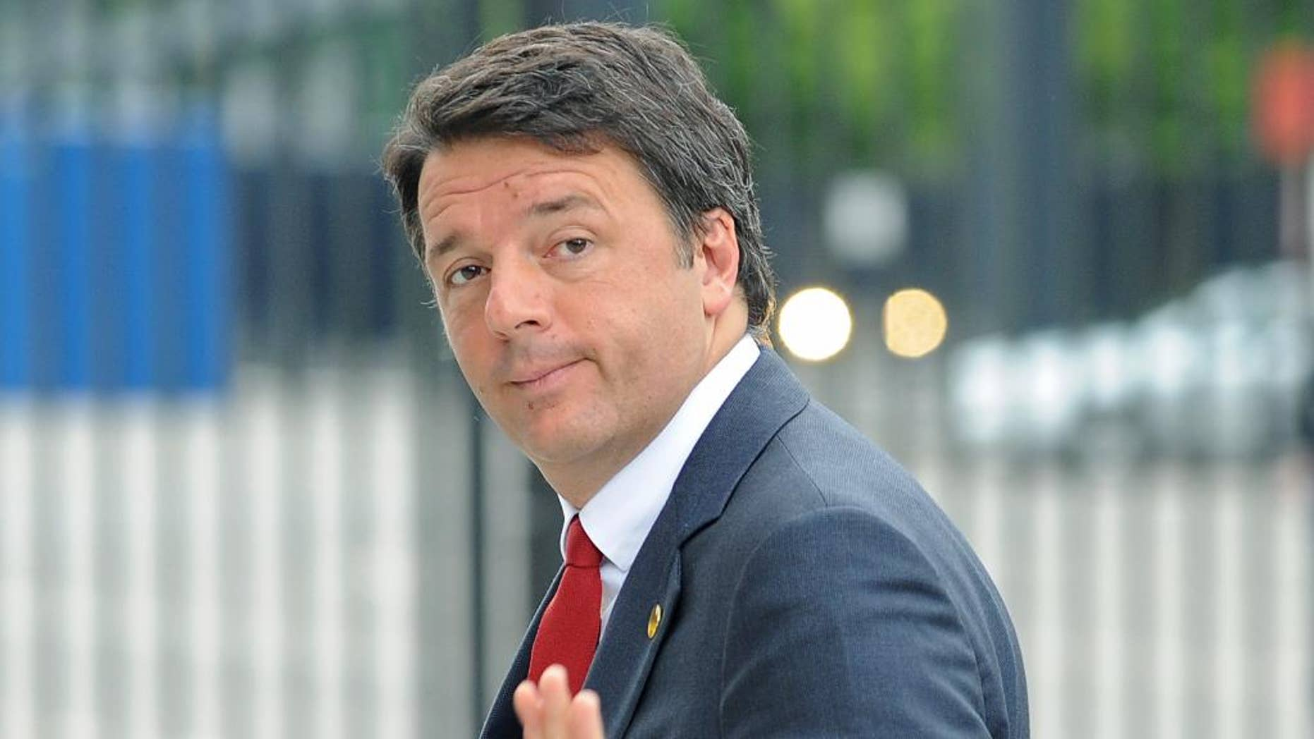Italian Prime Minister Matteo Renzi arrives for sessions of the second day of the NATO Summit, in Warsaw, Poland, Saturday, July 9, 2016. US President Barack Obama and leaders of the 27 other NATO countries are taking decisions in Warsaw on how to deal with a resurgent Russia, violent extremist organizations like the Islamic State, attacks in cyberspace and other menaces to allies' security. (AP Photo/Alik Keplicz)