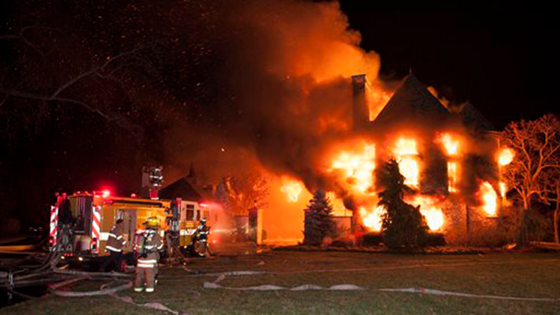 Jan. 19, 2015: In this file photo, firefighters battle a four-alarm fire at a home in Annapolis, Md.