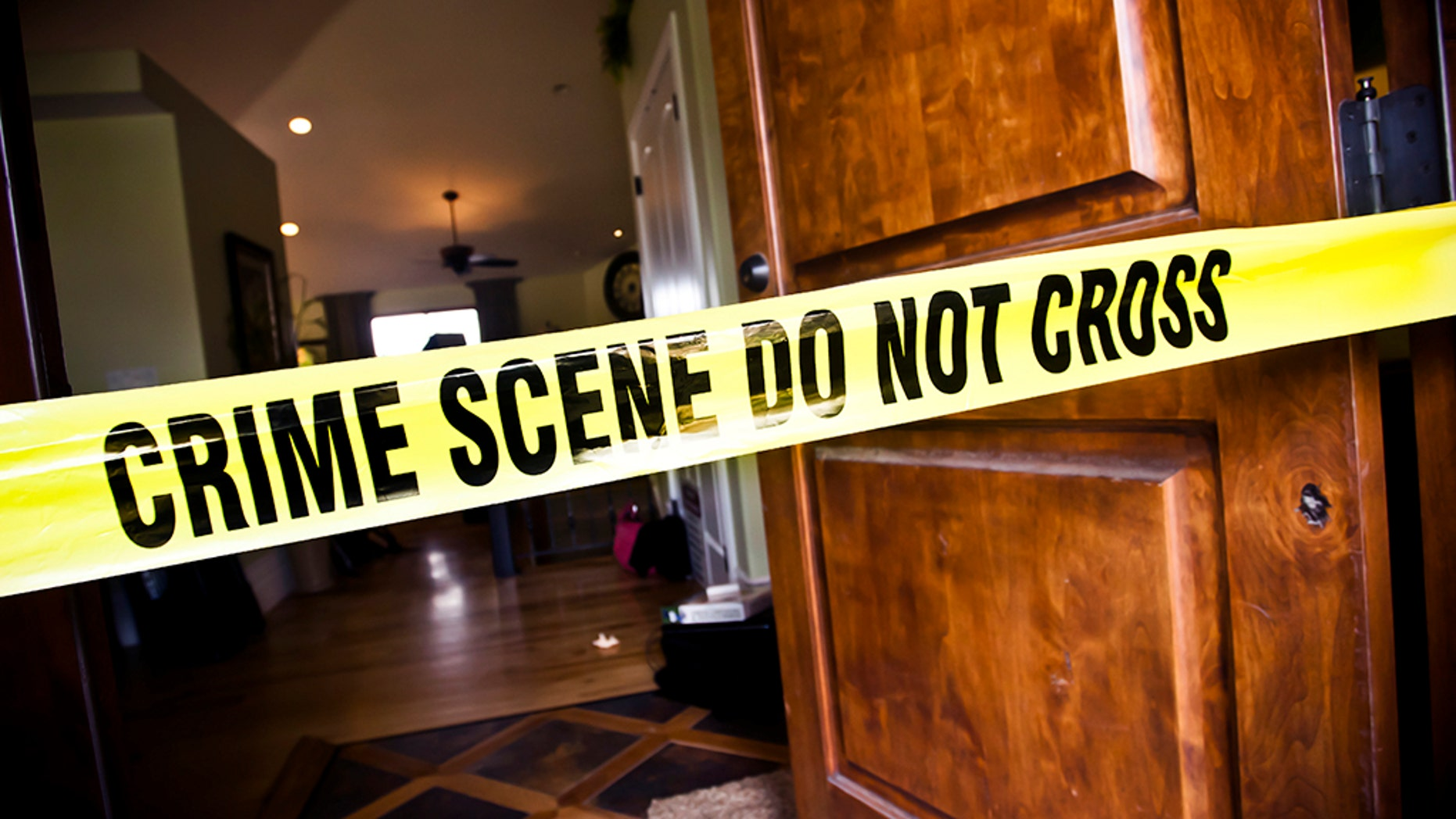 Police said they found a couple's body after a downstairs neighbor saw blood dripping from the ceiling.