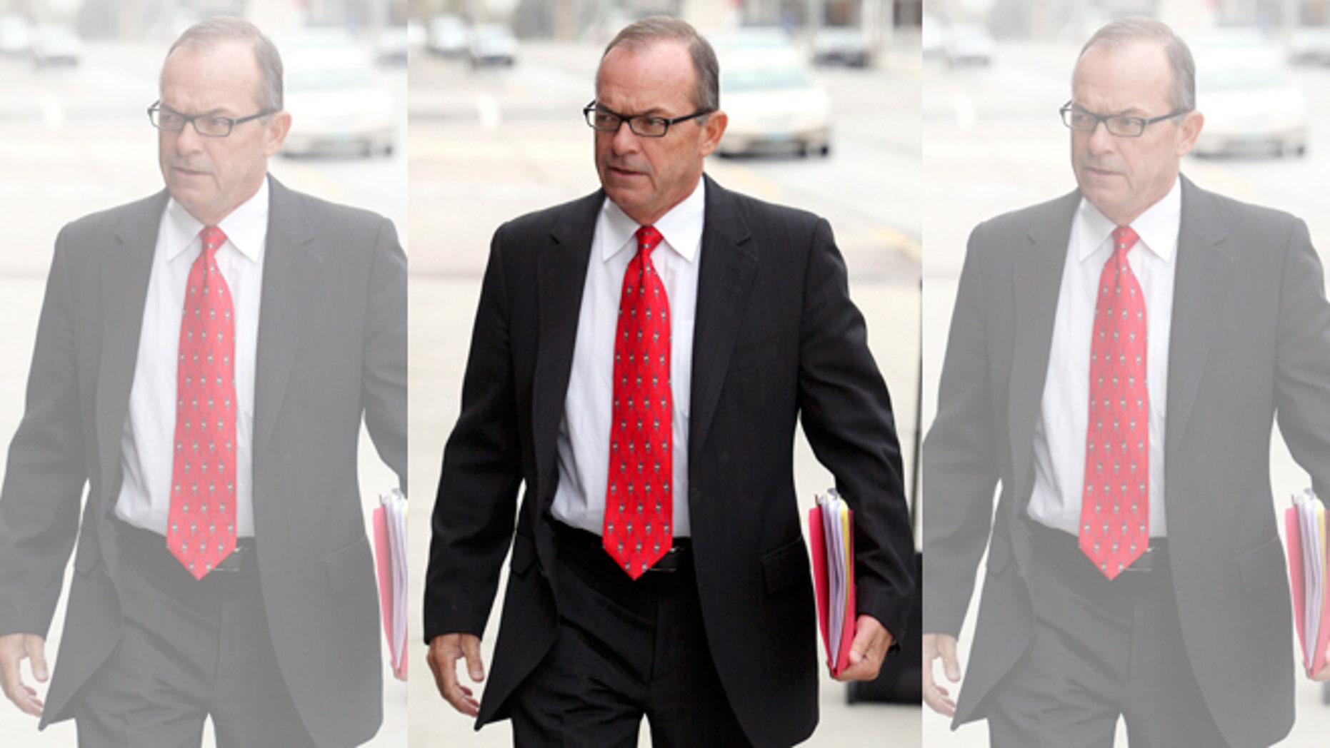 FILE - In this April 29, 2009, file photo, Tim Blixseth arrives at the federal courthouse in Missoula, Mont. Montana revenue officials say the one-time billionaire and Yellowstone Club founder owes almost $74 million in back taxes, penalties and interest, primarily on a $375 million loan to the luxury resort near Big Sky that he diverted for personal use. Department of Revenue officials announced Tuesday, March 24, 2015, that a tax board had sided against the real estate mogul in a series of recent rulings after Blixseth challenged the stateâs tax claims. Blixseth says he will appeal the tax board decisions in state court. (AP Photo/Mike Albans, File)