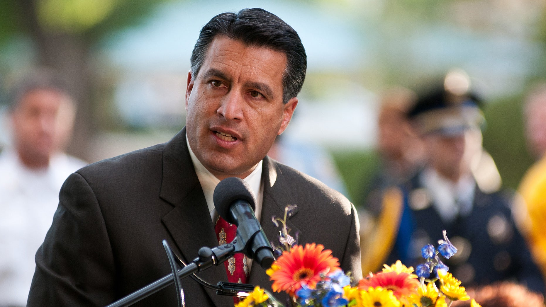 Nevada Gov. Brian Sandoval addressing the 2012 Republican convention in Tampa.