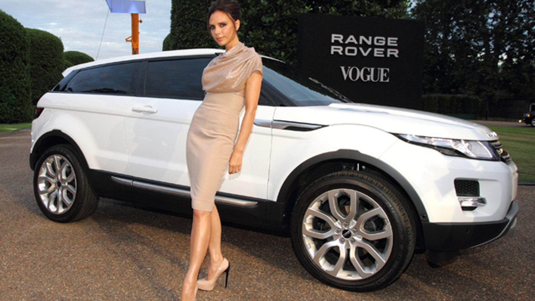 Victoria Beckham with the Range Rover Evoque