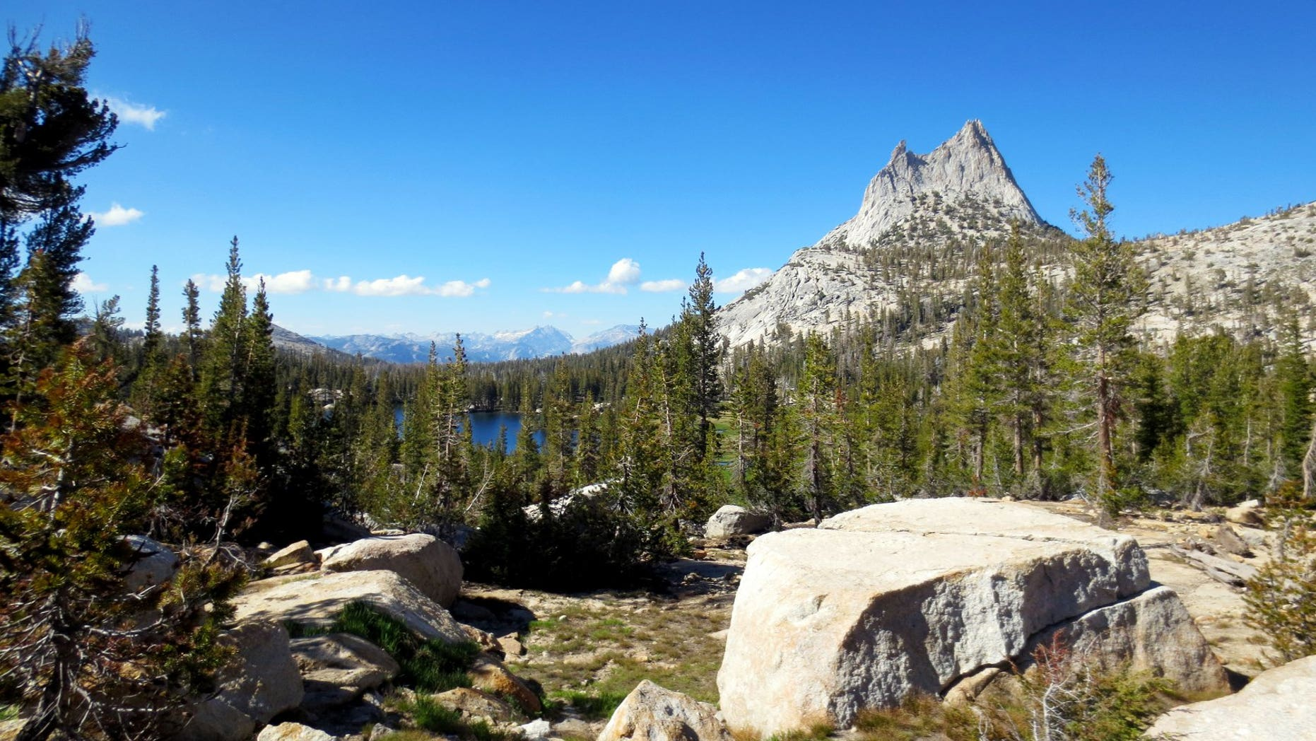 An 18-year-old died Wednesday after falling off a cliff in Yosemite National Park.