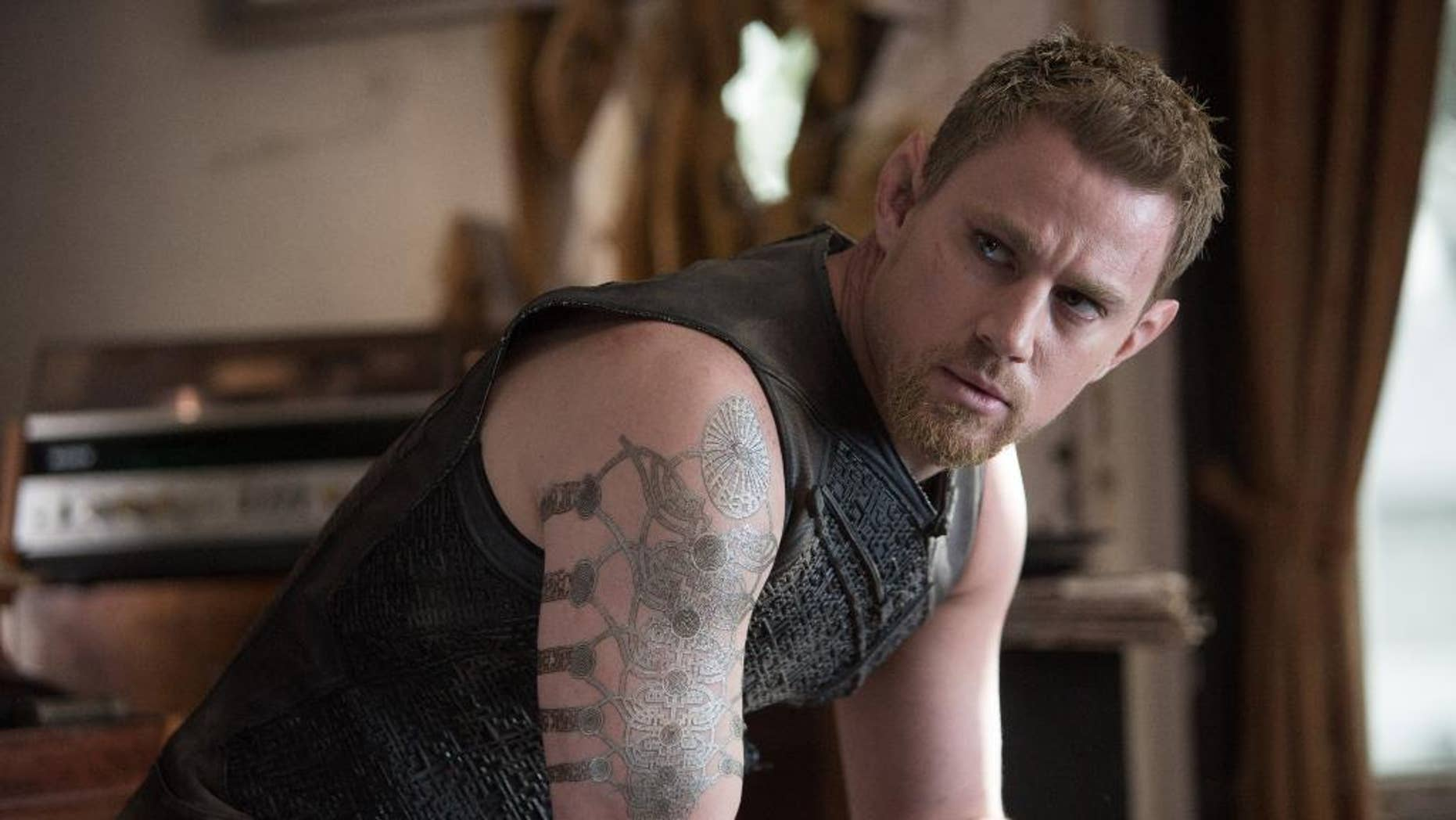 """This photo provided by Warner Bros. Pictures shows, Channing Tatum as Caine Wise, in Warner Bros. Pictures' and Village Roadshow Pictures' """"Jupiter Ascending,"""" an original science fiction epic adventure from Lana and Andy Wachowski. The movie is a Warner Bros. Pictures release. (AP Photo/Warner Bros. Pictures, Murray Close)"""