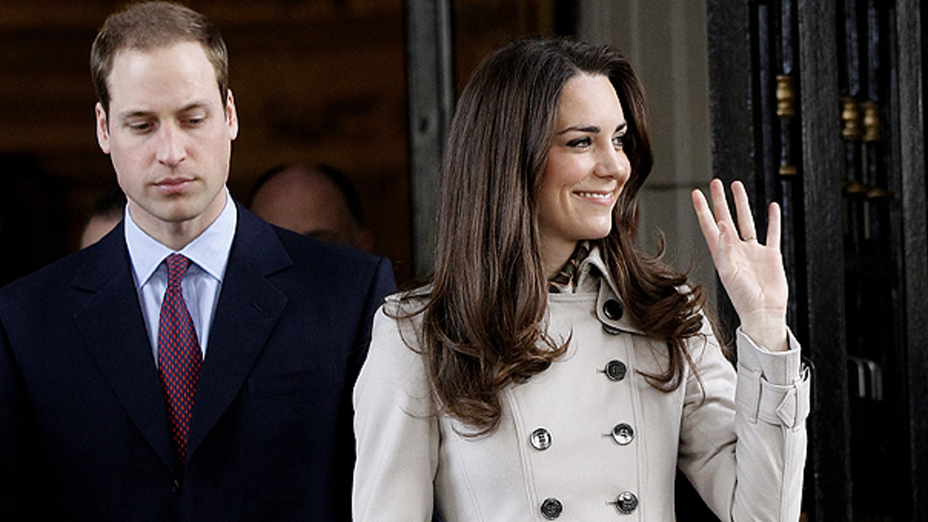 March 8: Britain's Prince William and his fiance Kate Middleton leave City Hall in Belfast, Northern Ireland.