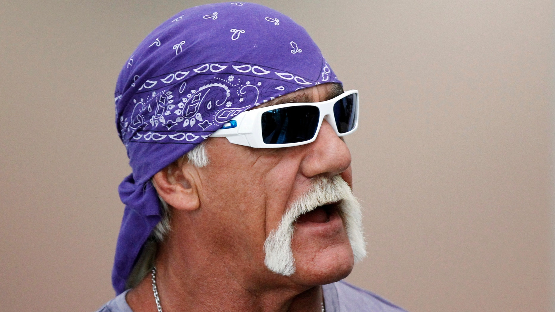 Hulk Hogan attends the Electronic Entertainment Expo in Los Angeles on June 7, 2011.