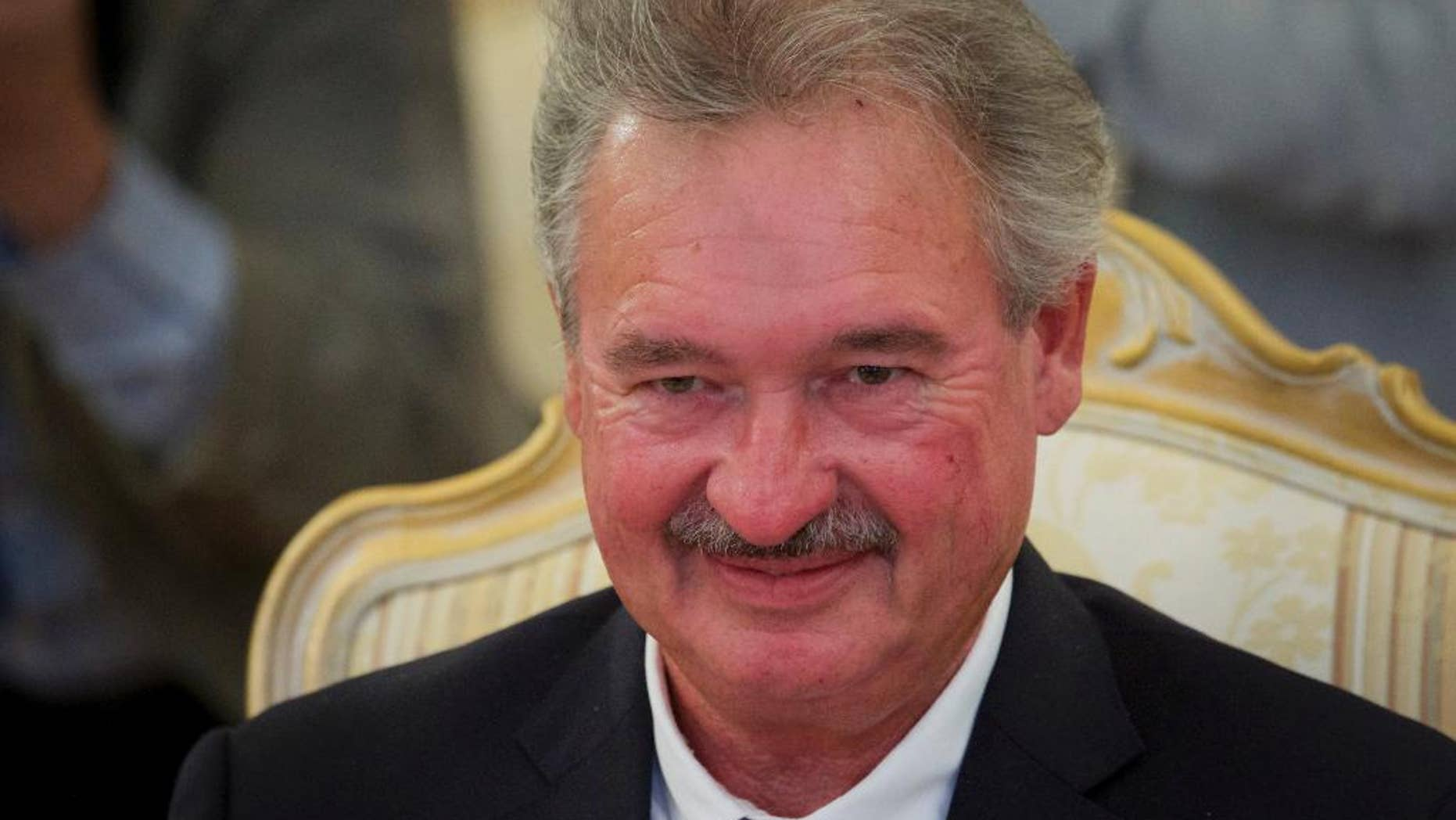 Luxembourg Foreign Minister Jean Asselborn smiles during talks with his Russian counterpart Sergey Lavrov in Moscow, Russia, on Tuesday, Sept. 13, 2016. (AP Photo/Ivan Sekretarev)