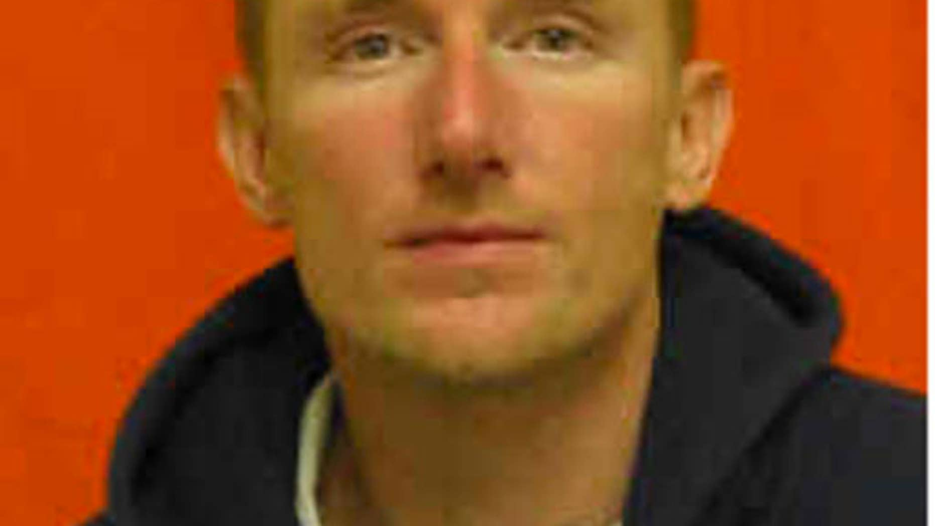 This photo provided by Ohio Department of Rehabilitation and Correction shows Jesse D. Hanes.   Dona Ana County Sheriff's spokeswoman Kelly Jameson says that Hanes is suspected of gunning down Hatch Police Officer Jose Chavez, 33, during a traffic stop Friday, Aug. 12, 2016. (Ohio Department of Rehabilitation and Correction via AP)