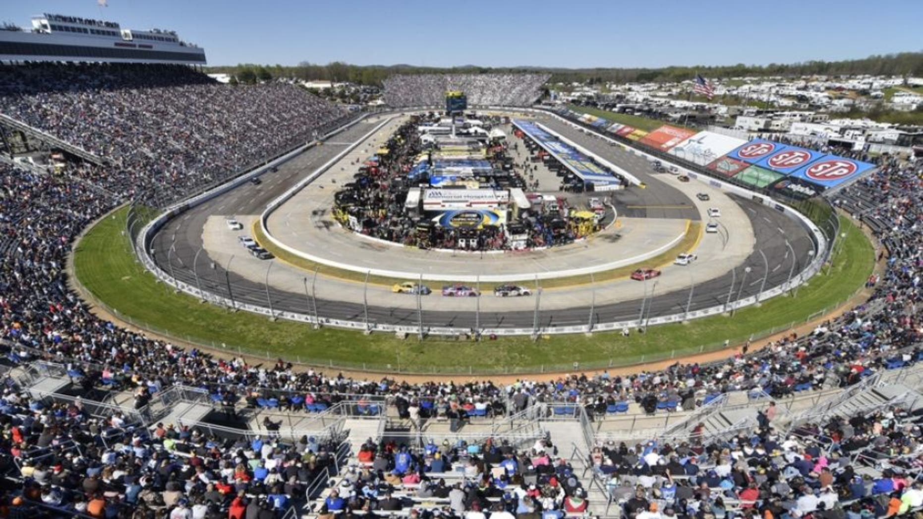 Apr 2, 2016; Martinsville, VA, USA; A general view of Martinsville Speedway during the Alpha Energy Solutions 250. Mandatory Credit: Michael Shroyer-USA TODAY Sports