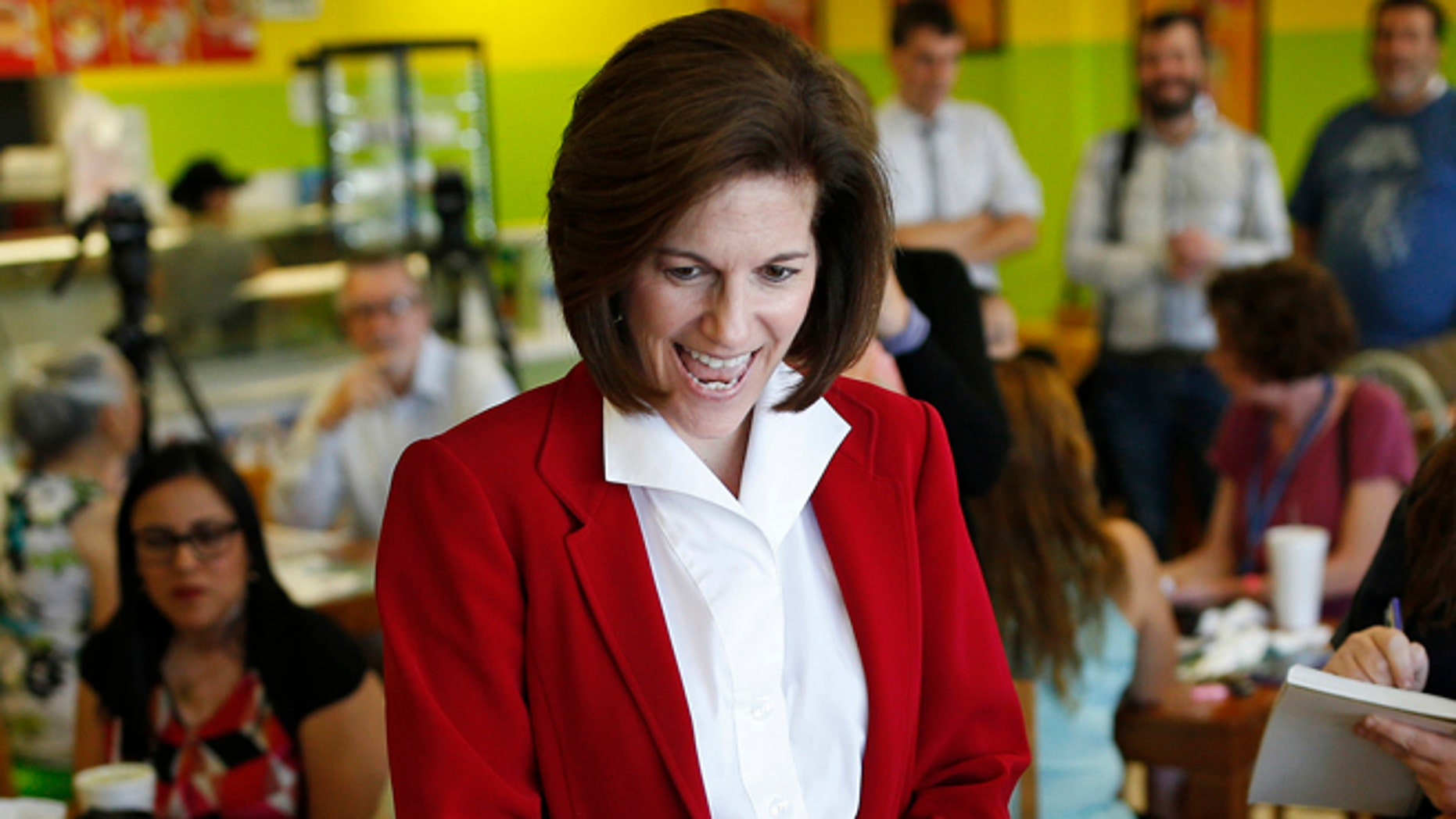 Senate candidate Catherine Cortez Masto at a campaign event at a restaurant in Las Vegas in May 2016.