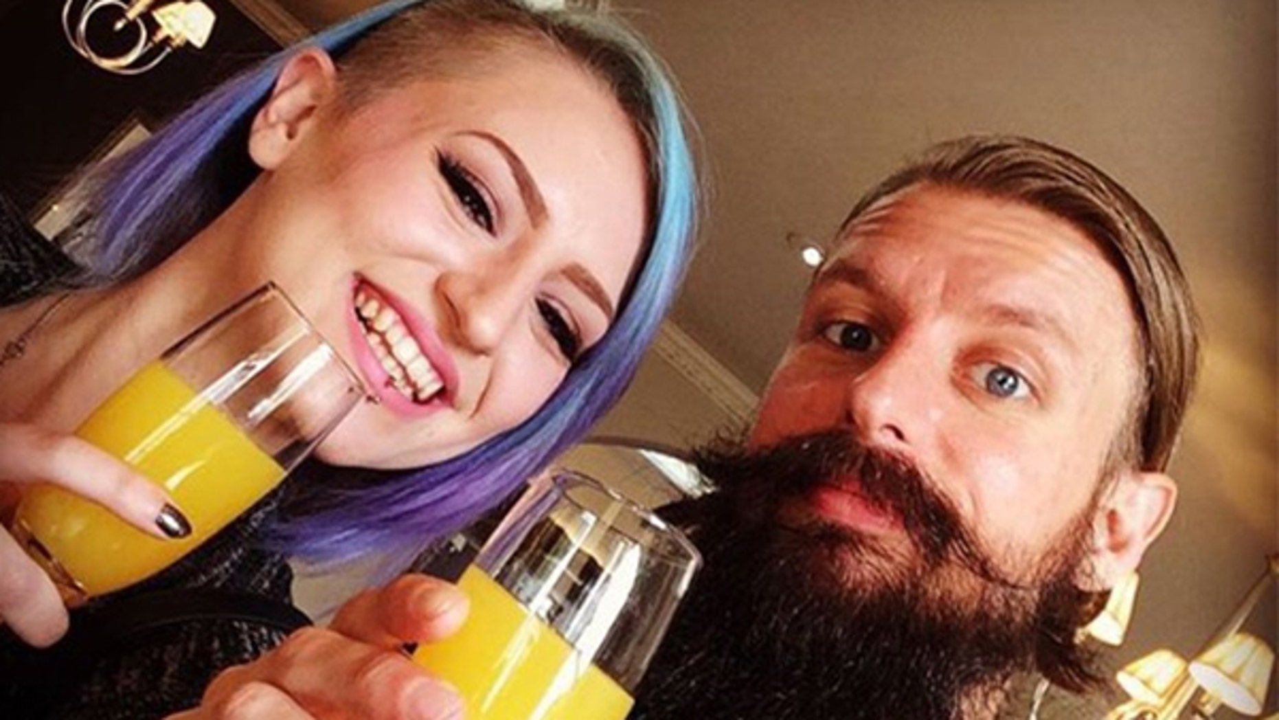 The father-daughter duo from Brighton, England have gone viral on Twitter with their honest message.