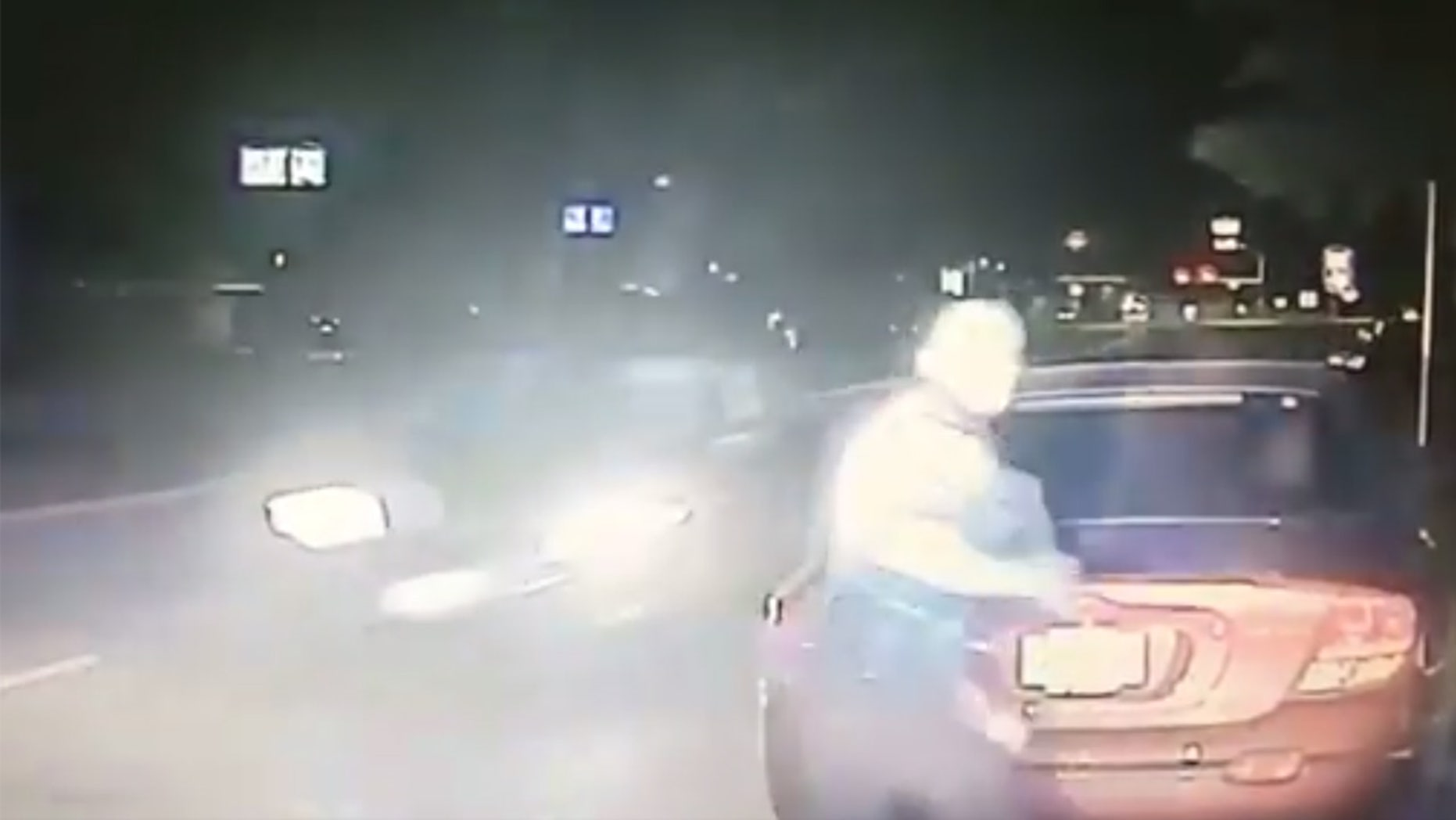 A police officer in Bridgeport, Texas narrowly missed getting hit by a drunk driver.