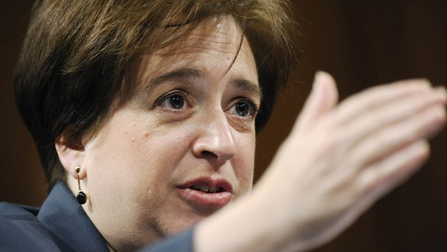 Supreme Court nominee Elena Kagan gestures as she testifies at the Senate Judiciary Committee on Capitol Hill June 29. (Reuters Photo)