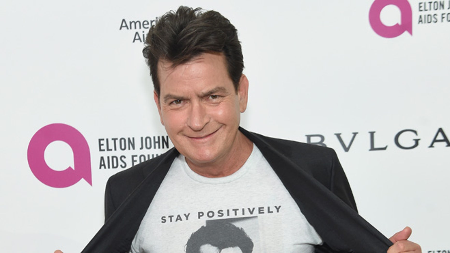 WEST HOLLYWOOD, CA - FEBRUARY 28:  Actor Charlie Sheen attends the 24th Annual Elton John AIDS Foundation's Oscar Viewing Party at The City of West Hollywood Park on February 28, 2016 in West Hollywood, California.  (Photo by Jamie McCarthy/Getty Images for EJAF)
