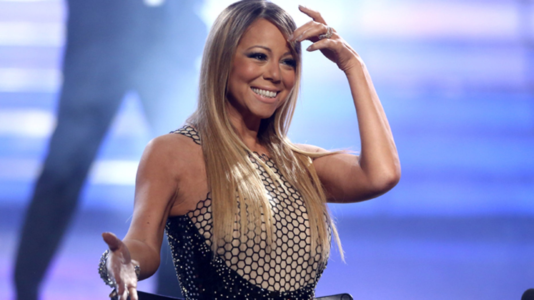 """May 16: Mariah Carey at the """"American Idol"""" finale at the Nokia Theatre at L.A. Live  in Los Angeles."""