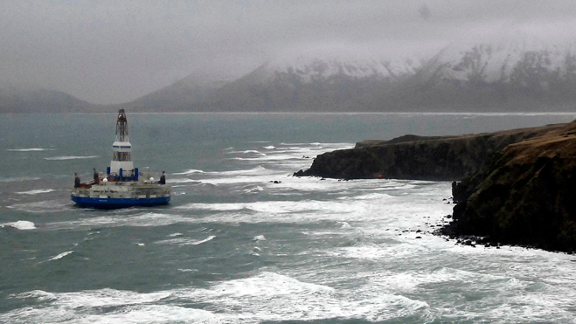 Jan. 2: Royal Dutch Shell drilling rig Kulluk aground off a small island near Kodiak Island