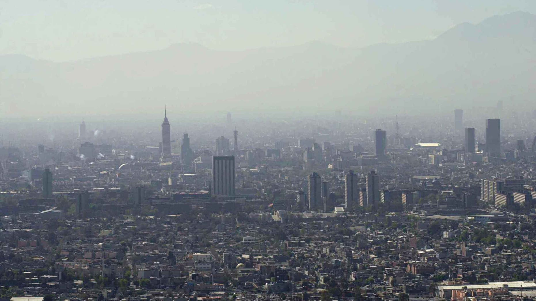 An aerial early morning view of Mexico City.