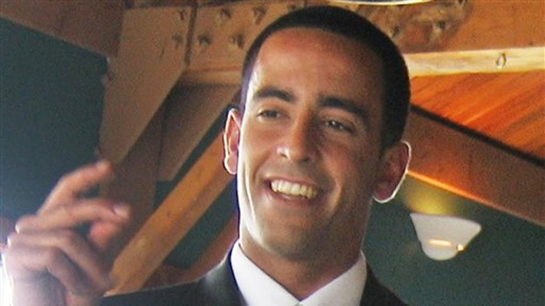 This May 2008 photo provided by family friend Maurice Mitchell shows Daniel Bobis on his wedding day in Point Lookout, N.Y.