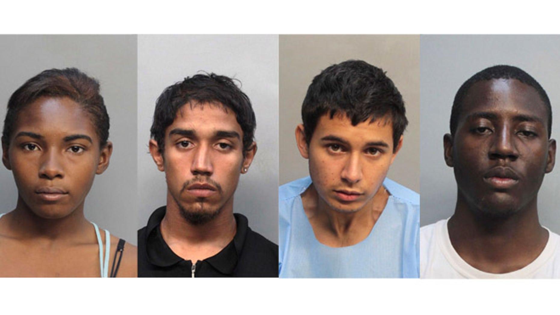 Desiray Strickland, Kaheem Arbelo, Christian Colon and Jonathan Lucas. (Photos: Associated Press)