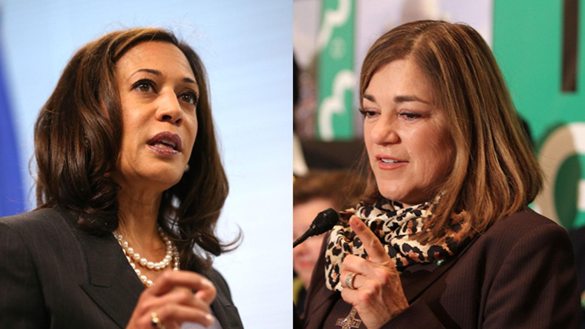 Kamala Harris (left) and Loretta Sanchez. (Photos: Getty Images)