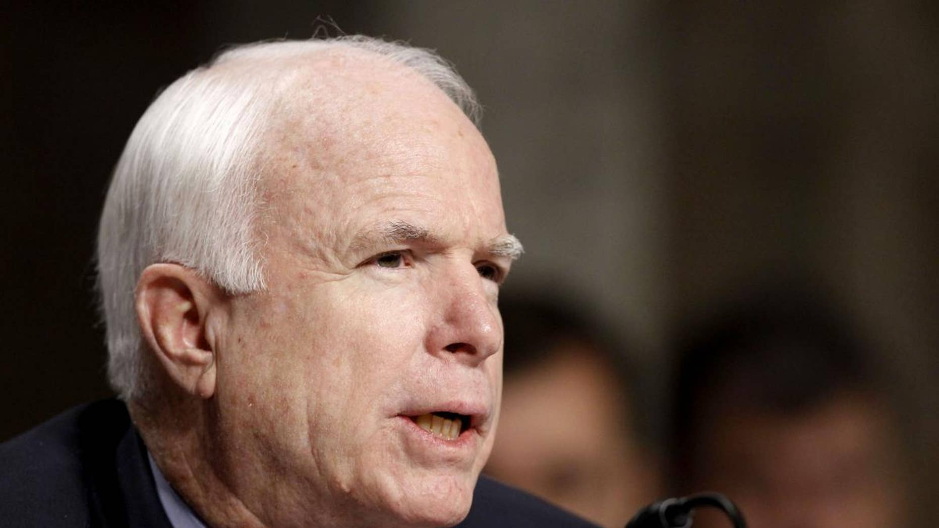 Sen. John McCain, R-Ariz., the ranking Republican on the Senate Armed Services Committee, speaks on Thursday, Dec. 2, 2010 (AP Photo/Alex Brandon)