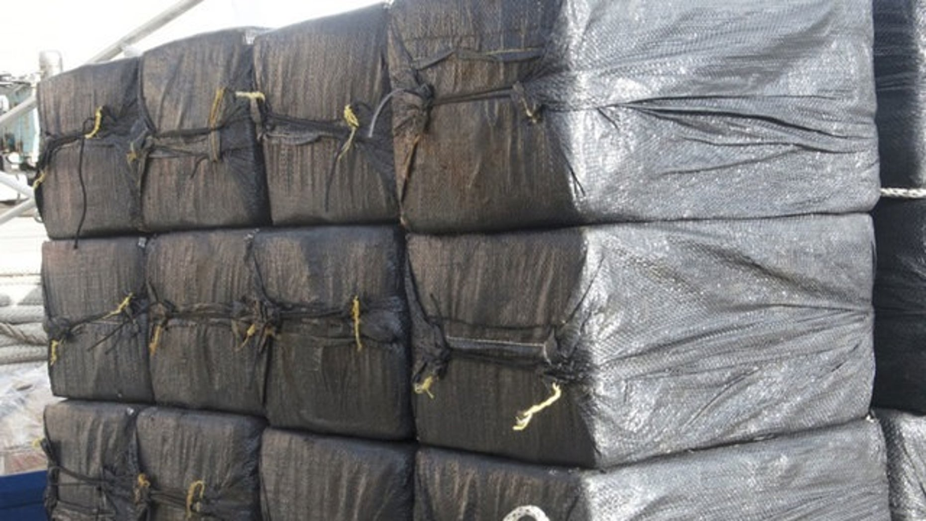 The Coast Guard unloaded some 3.1 tons of cocaine on Monday that was seized in international waters.