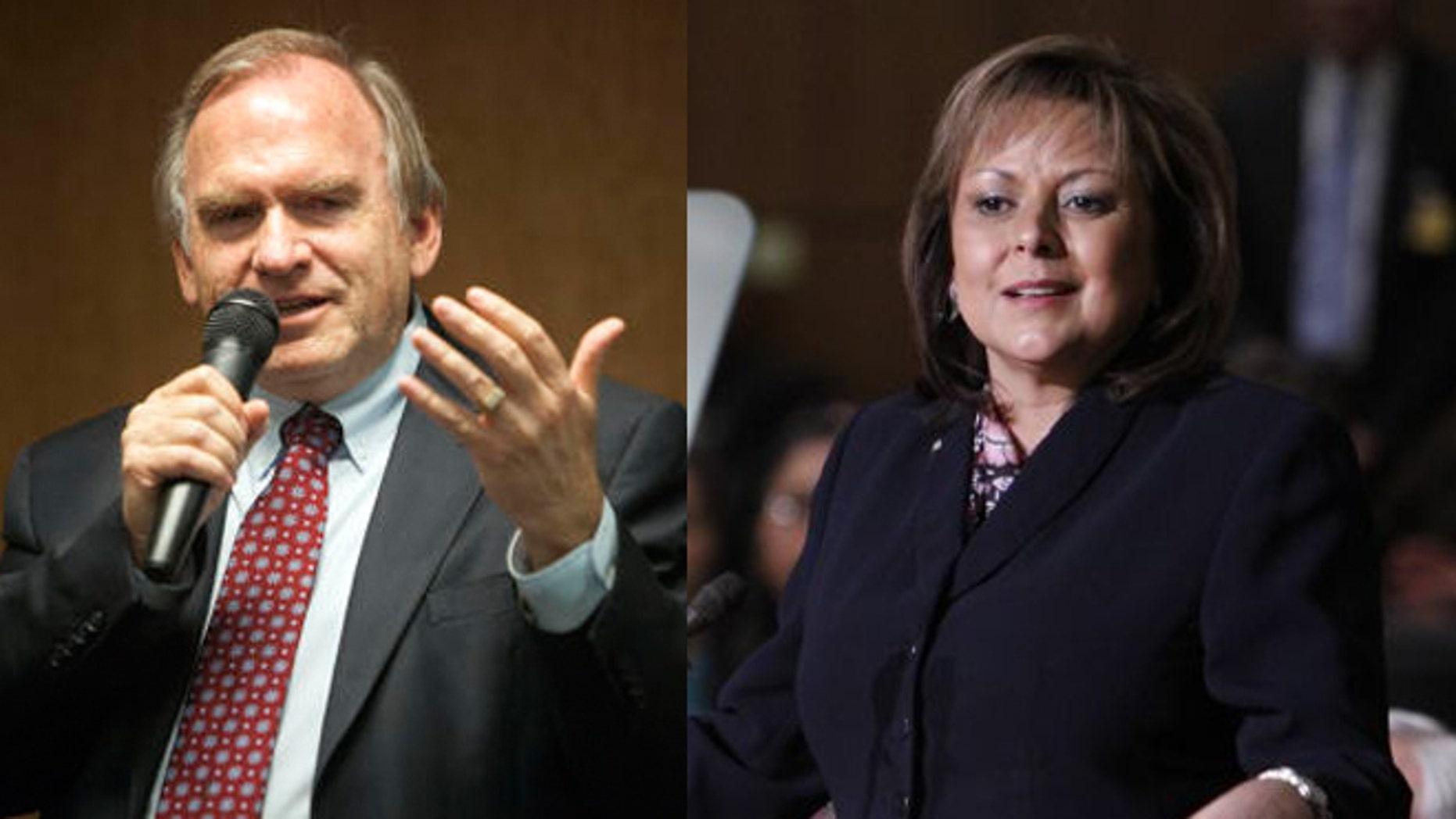 Left: Gary King; Right: Gov. Susana Martinez (Photos: AP)