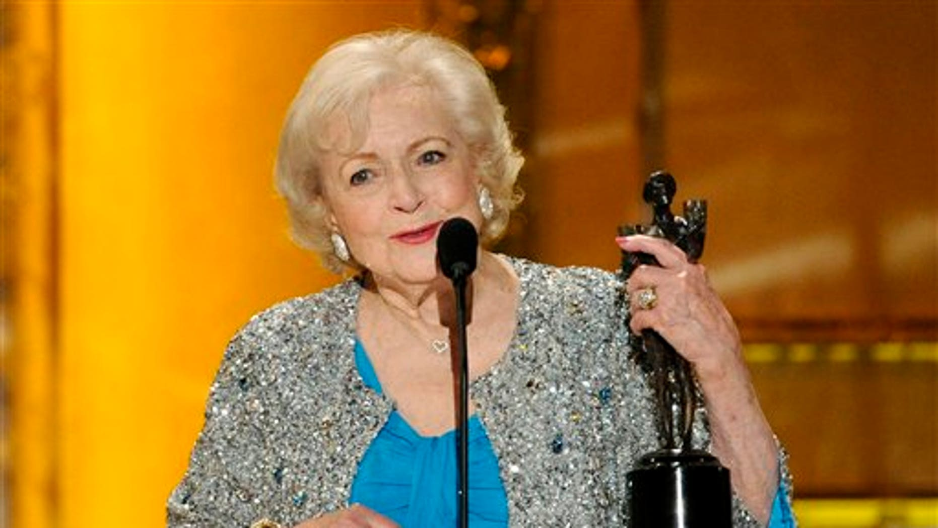 Jan. 30: Betty White accepts her Screen Actor's Guild Award.