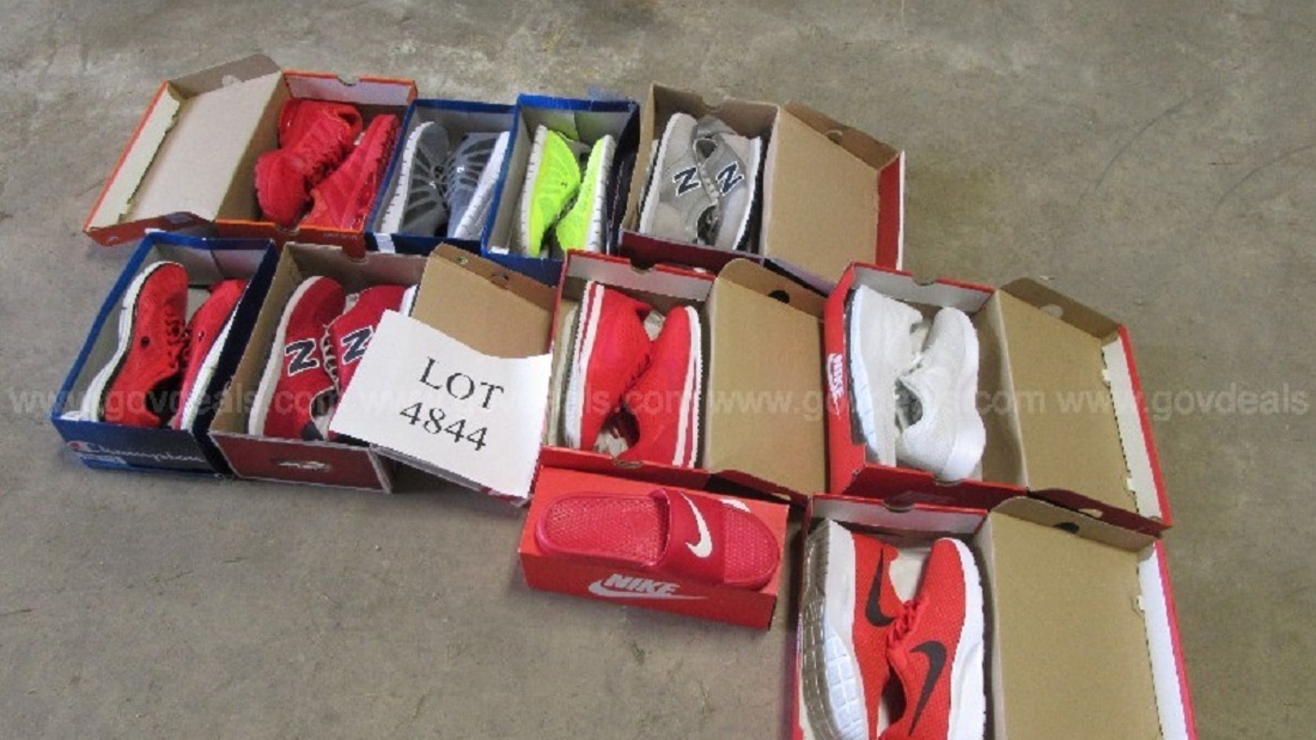A convicted drug dealer's sneakers are being auctioned off by a central Ohio county.