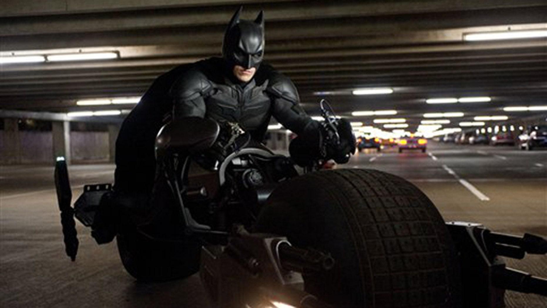 "Actor Christian Bale stars as Batman in ""The Dark Knight Rises."""