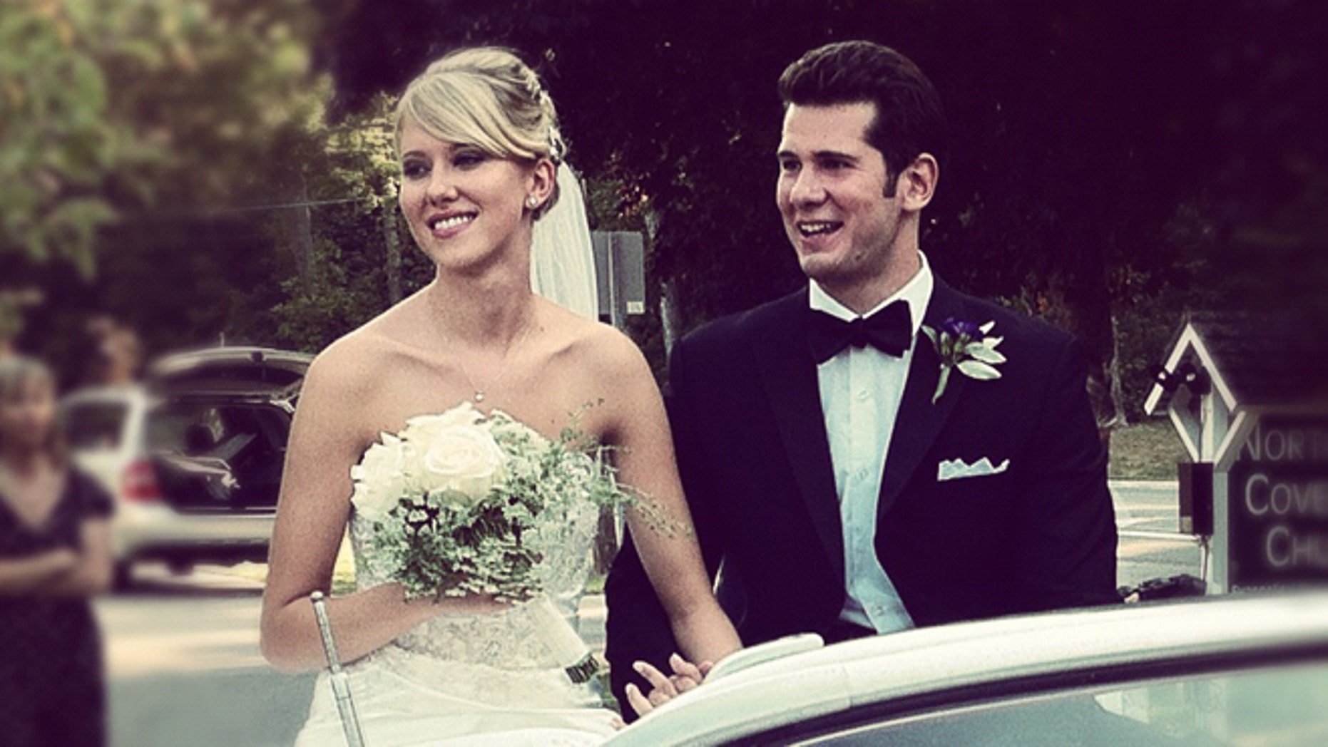 The author and his wife on his wedding day in August 2012.