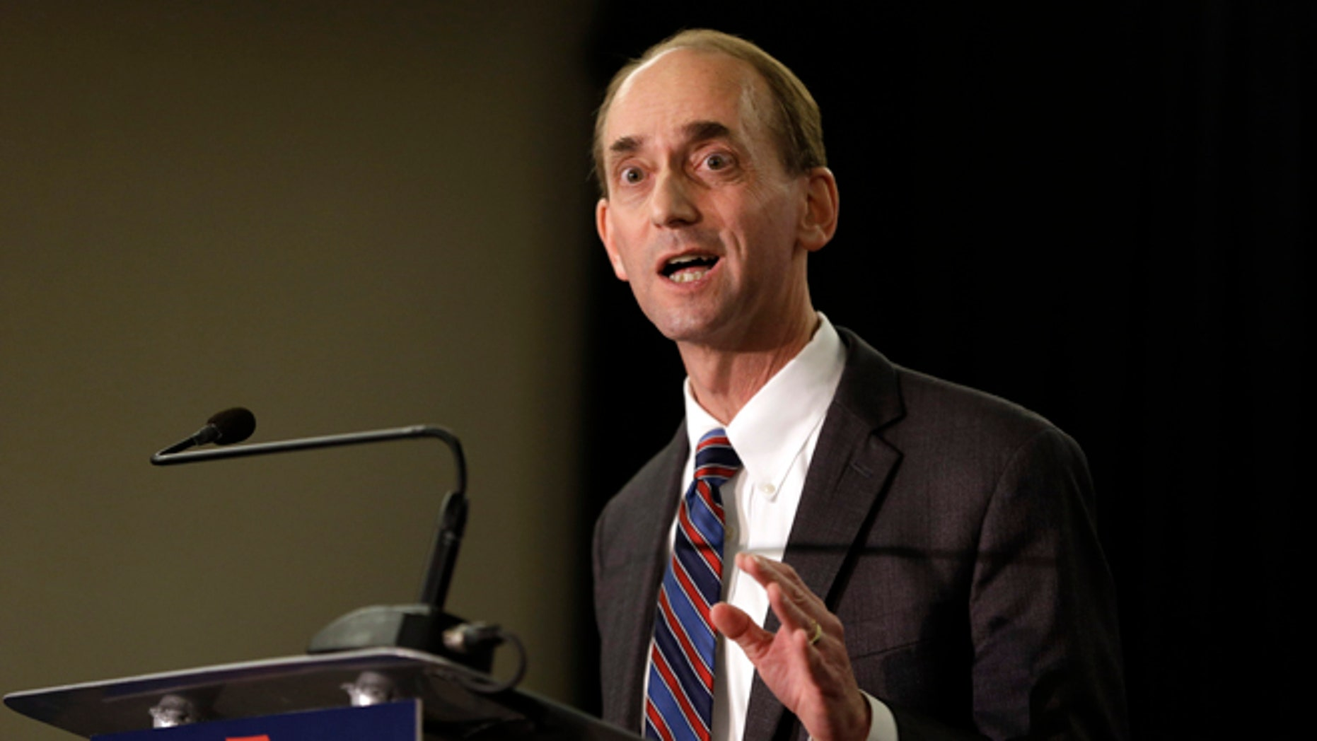 FILE 2008: Missouri Auditor Tom Schweich announces his candidacy for governor in St. Louis.