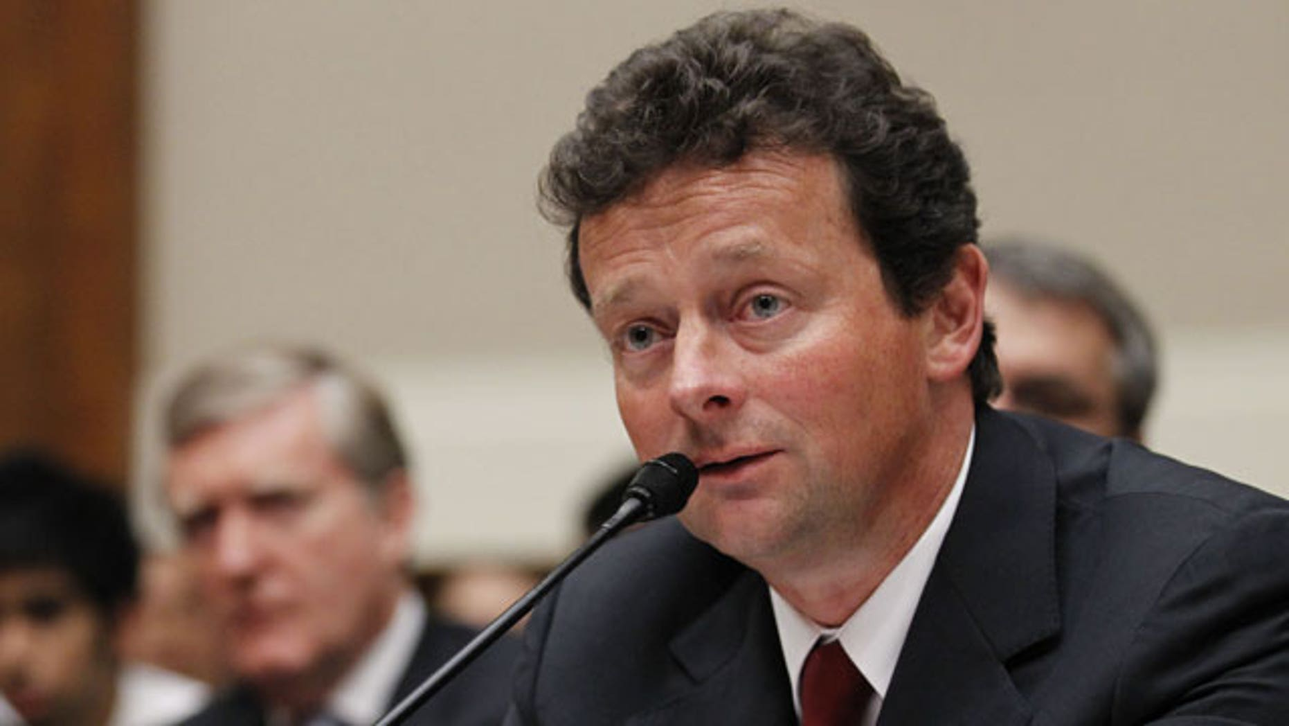 June 17: BP CEO Tony Hayward testifies during a House Oversight and Investigations subcommittee hearing on the role of BP in the Deepwater Horizon Explosion and oil spill, on Capitol Hill in Washington.