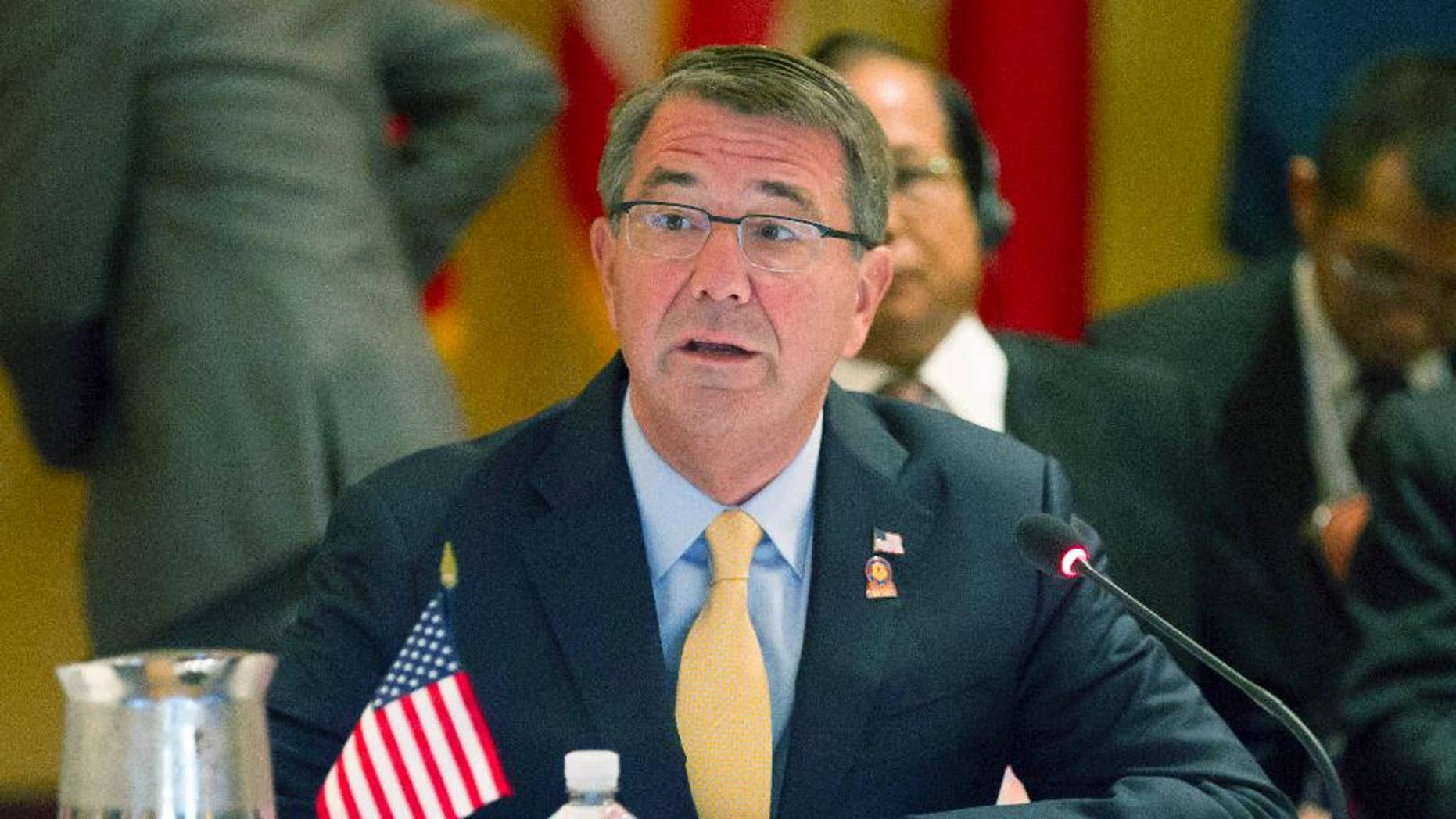 Sept. 30, 2016: U.S. Secretary of Defense Ash Carter gives his opening remarks for the Association of Southeast Asian Nations (ASEAN) defense ministers meeting in Ko Olina, Hawaii.