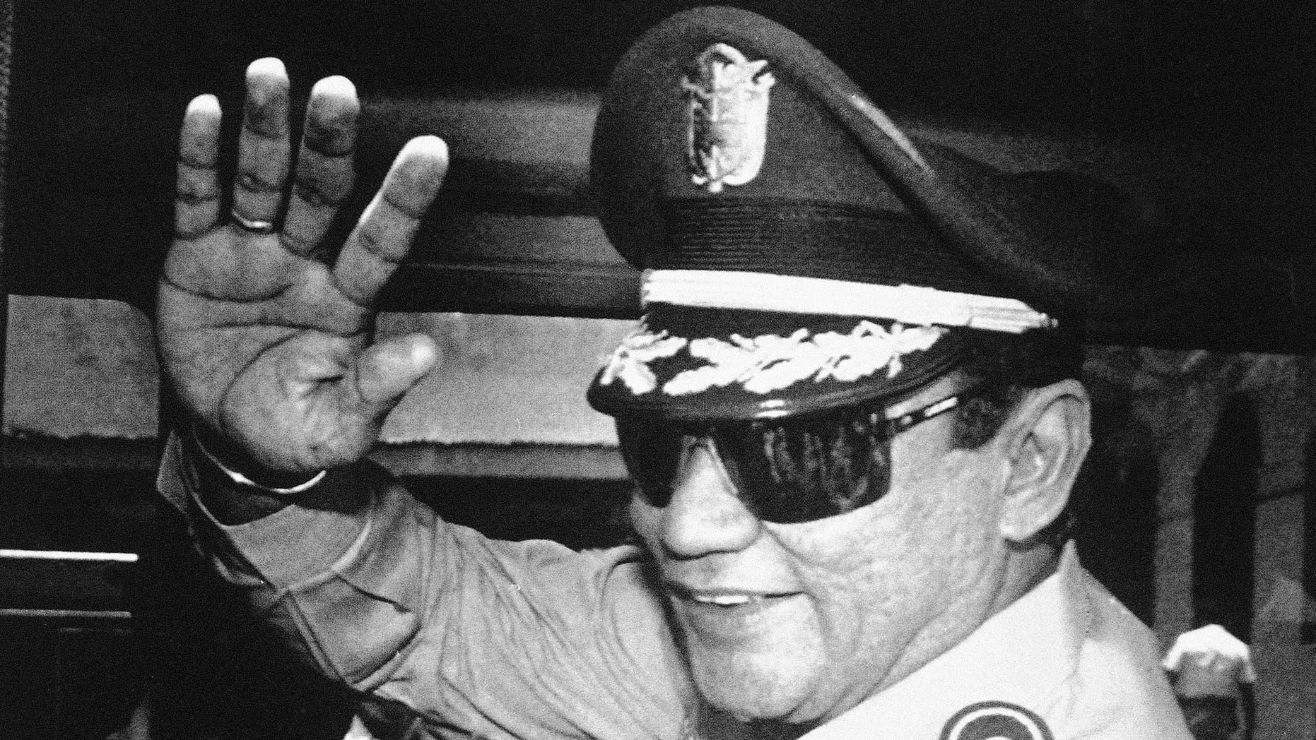 FILE - Gen. Manuel Antonio Noriega (AP Photo/Matias Recart, File)