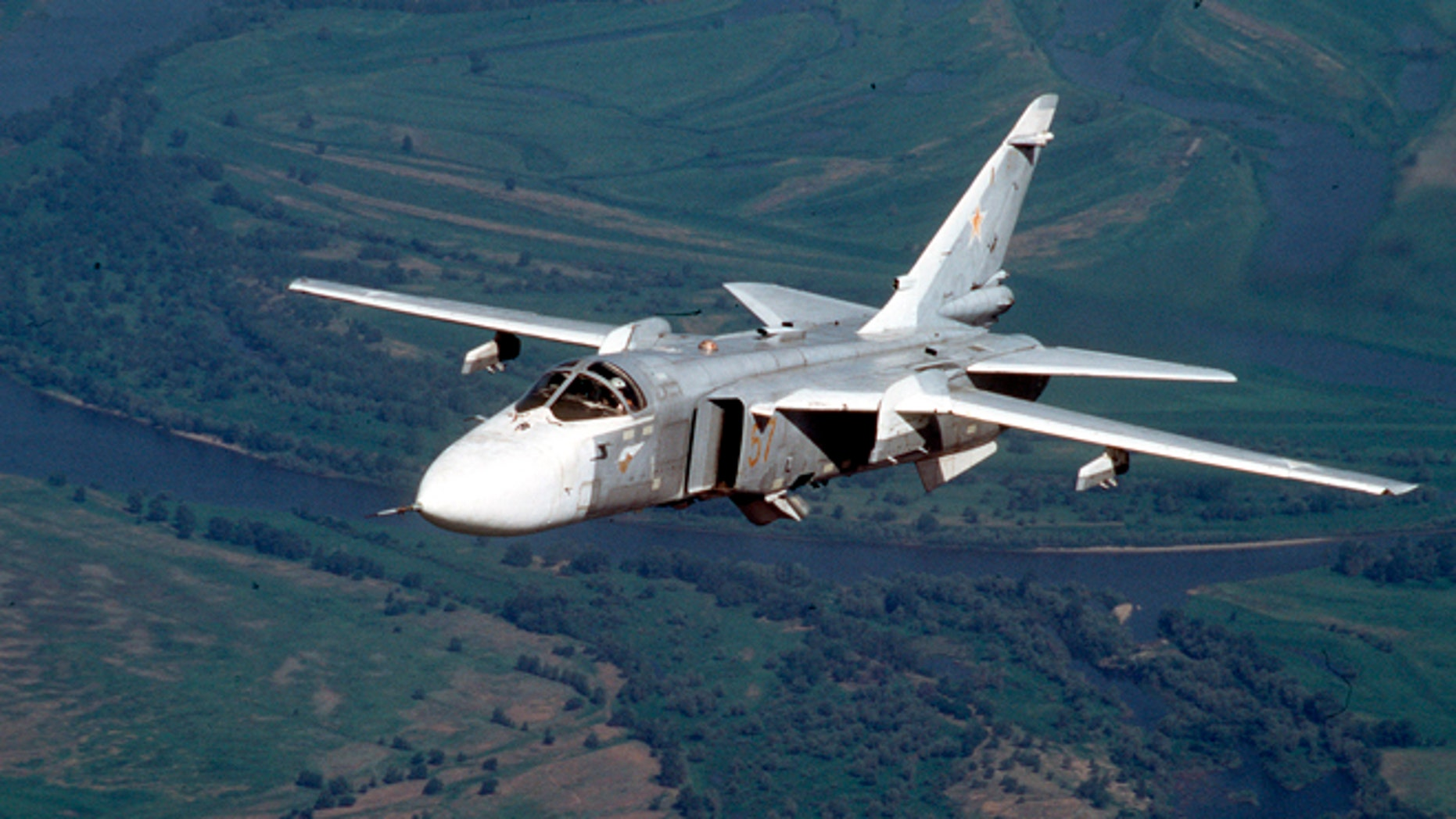 A Russian Su-24 medium-range bomber, in a 2002 file photo.