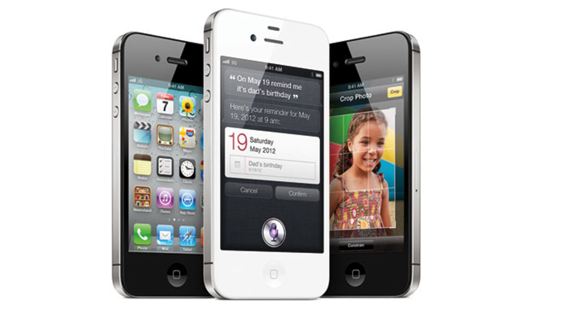 Apple's iPhone 4S featuring personal assistant app, Siri.