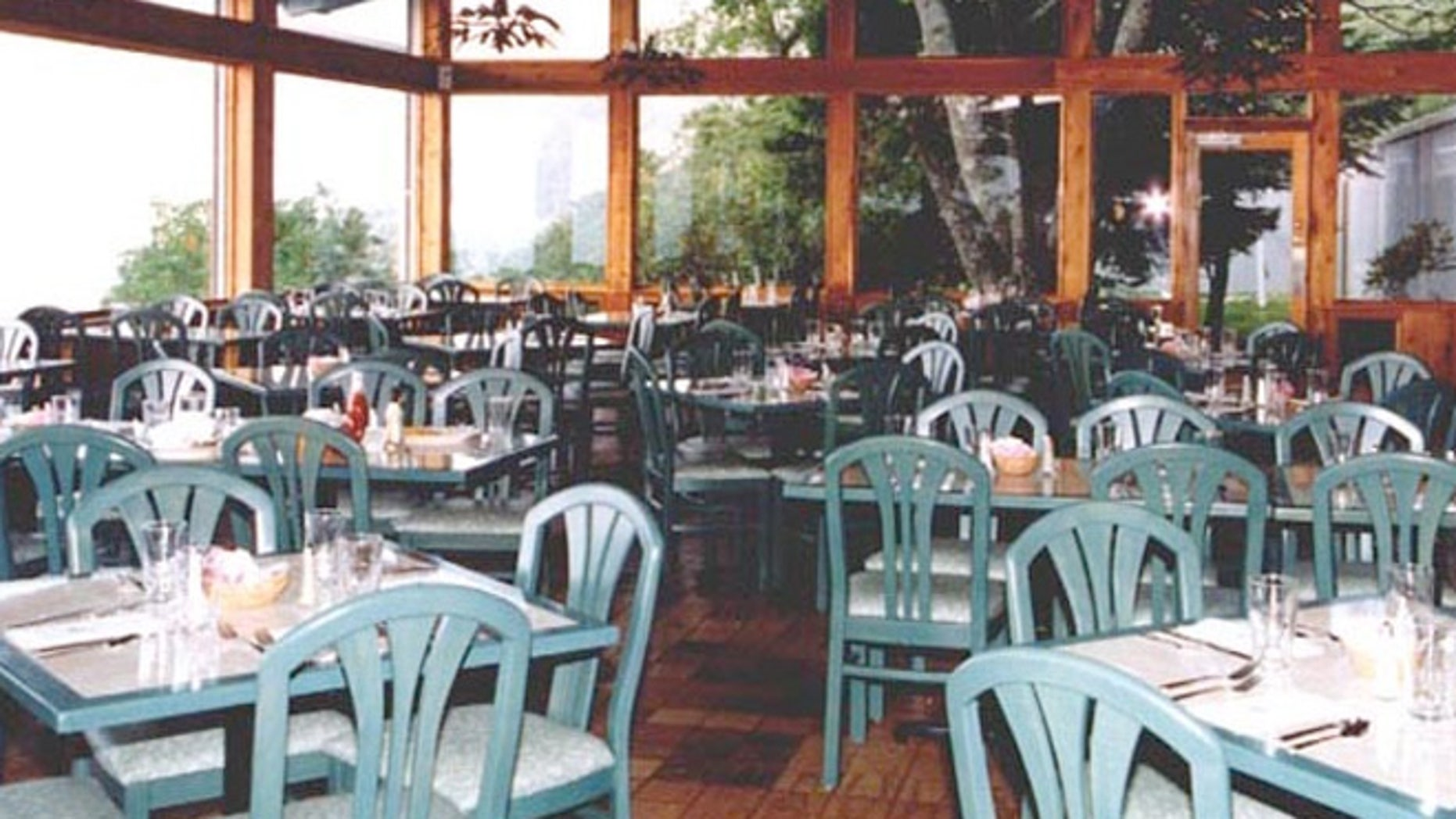 Dinig room at the Pisgah Inn in North Carolina.