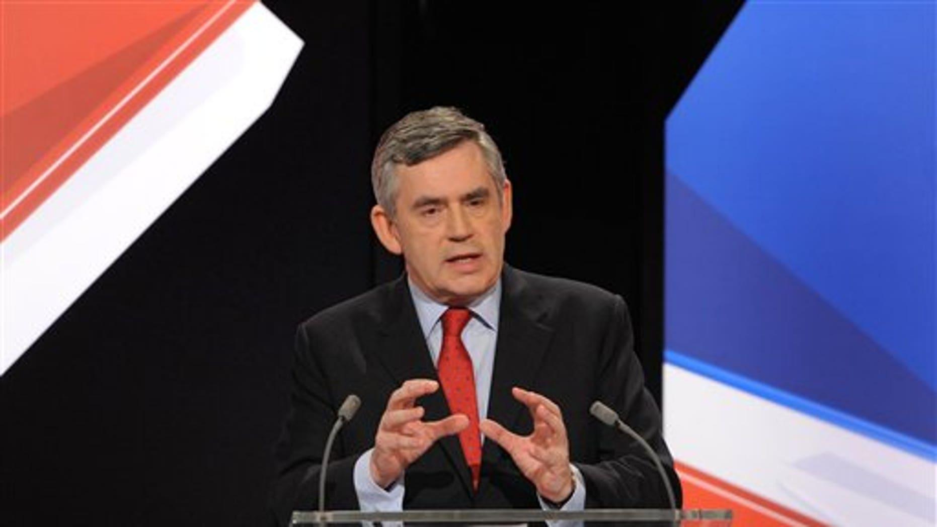Britain's Prime Minister Gordon Brown.
