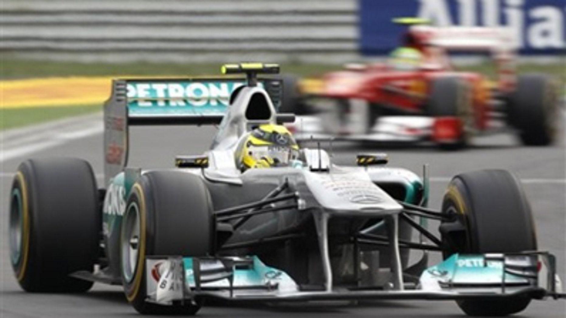 Mercedes GP driver Nico Rosberg competing in the 2011 Korean Grand Prix