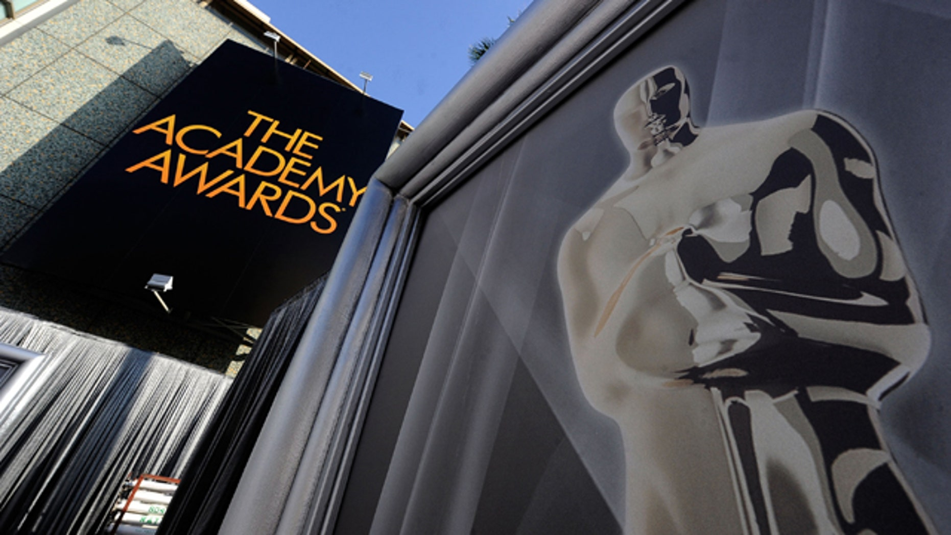 Feb. 24, 2012: Preparations continue for the 84th Annual Academy Awards at the Hollywood and Highland in Hollywood, Calif.